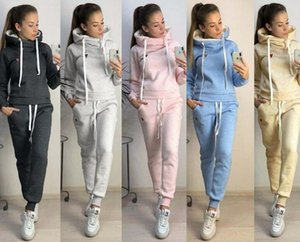 2020 European and American Halloween women's clothing autumn and winter popular new fleece fashion leather stamp leisure sports suit,