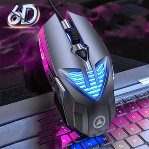 Mice Wired Gaming Mouse 3200DPI E-sports Game Metal Manipulator Optical Sensor 6 Independently Buttons Laptop PC Gamer
