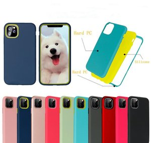 Armored 3 in 1 shockproof hybrid TPU PC back cover phone case