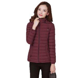 Women's Trench Coats Casual Fashion Short Winter Jacket Women Warm Solid Slim Parka Feminina Hooded Pockets Woman