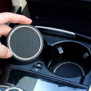 Coupe d'automobile Tapis antidérapant Bling Bling Coaster Coaster Créatif Creative Mignon de rangement Couturier Porte-bouteille antidérapante Accessoires d'intérieur