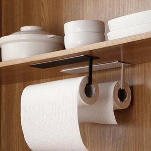 Toilet Paper Holders Kitchen Nail-Free Towel Holder Self-Adhesive Roll Rack Tissue Hanger Bathroom Cabinet Shelf Sundries Accessories