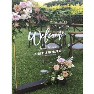 Other Event & Party Supplies Personalised Round Wedding Welcome Acrylic Sign Custom With Engagement Decal Baby Shower Hens Bridal