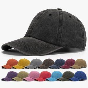 12 colores lavados gorra de béisbol sombrero desordenados bollos camioneros gorras de camionero hombres y mujeres papá malla verano al aire libre snapbacks ljja4152