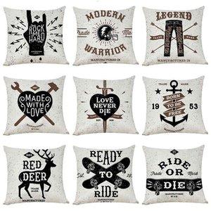 Rock Popular Style Cotton Hemp Pillow Case Sofa Cushion