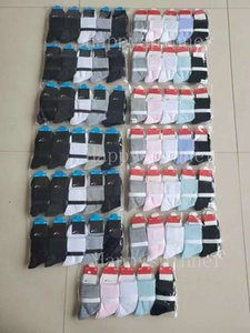 Girl Boy Men Women Socks Cotton Mid-length Letter Solid Styles Various Fashion Sports and Leisure Business Garters Tags