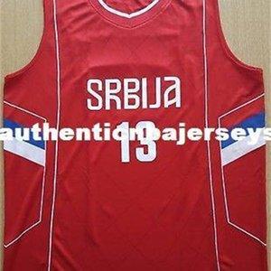 Raduljica CamiSeta # 13 Canotta Serbia Eurobasket 2017 Баскетбол Джерси Вышивка сшитые пользовательские Любые номера и Имя Джобры XS-6XL Жилет J