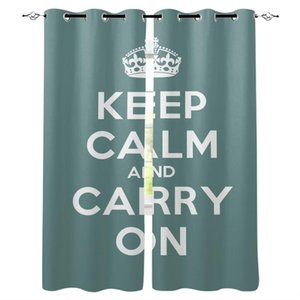 Curtain & Drapes Crown English Letters Home Decor For Living Room Bedroom Door Kitchen Curtains Window Children