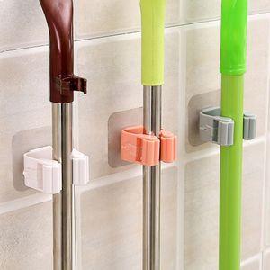 MOP Rack Accesorios de baño Montado en la pared Organizador de la pared Hook Hogar Soporte de la escoba Detrás de puertas / en las paredes Herramienta de almacenamiento de cocina