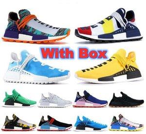 NMD Human Race Hommes Femmes Running Shoes Designer Chaussure Chaussure Pharrell Williams Noir Blanc Blanc Gris Primeknit Pk Runner XR1 R1 R2 Sports Sports Sports