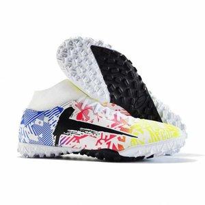 2021 Primavera Nova Moda Masculina Sapatos de Futebol dos Crianças High Top Neymar 33-45 Tamanho 42 2IL0