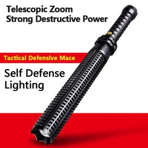 wholesale Led flashlight 2000 lumens CREE Q5 Adjustable zoom Self defense Tactical light torch for 18650 or AAA battery