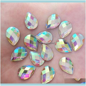 Loose Diamonds Jewelrywhite Ab 100Pcs 10*14Mm Flatback Resin Rhinestone Crafts Diy Jewelry Making Aessories Supplies F527 Drop Delivery 2021