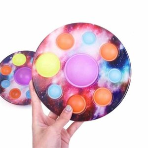 Decompression finger Luminous Starry Planet toy sensory fidget toys planets boards spinners stress relief puzzle kids disk pressing pressure bubble