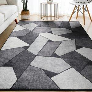 Carpets Geometric Carpet For Living Room Velvet Rug Bedroom Bedside Square Rugs Soft Fluffy Home Kids Salon Sofa Table Decor Mat