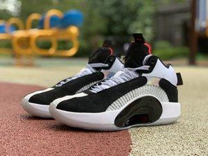[مع صندوق] أعلى جودة أحذية رجالي كرة السلة Jumpman 35S مركز الثقل 35 Union Bred Bayou Boy Boys DNA Morpho Suidhood Man Trainers Black White Red Sports Sneakers