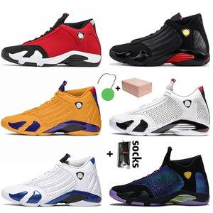 Мужские кроссовки с коробкой Ретро Женские Мужчины 14s Баскетбольные Обувь Jumpman 14 Спортивные тренажеры Университет Gold Hyper Royal Graphite Большой Размер США 13