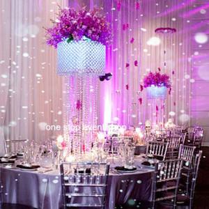 Florero de cristal, jarrón de cristal para bodas en acabado dorado, jarrón de cristal para