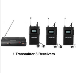 2014 UHF Wireless In Ear Stage Monitor System TAKSTAR In Ear Stage Wireless Monitor System 3 Receptor + 1 transmisor WPM-200 envío gratis