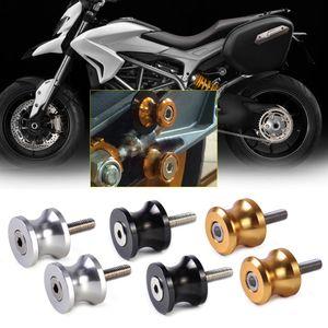 CNC Aluminio M6 Ruedas de brazo giratorio Deslizadores aptos para Aprilia Ducati Triumph Yamaha FZ1 FZ6R MT-01 YZF600R YZF-R1 YZF-R6S
