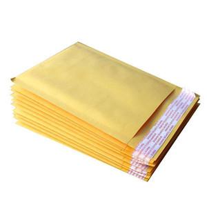Petite bulle kraft Mailers enveloppes rembourrées Sacs 130x210 + 40mm Sacs de messagerie externe Kraft et PE Bubble Livraison gratuite 002
