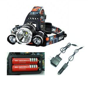 5000 Lumen 3XCREE XM-L T6 LED faro faro 18650 cabeza antorcha lámpara + 2XCargador envío gratis