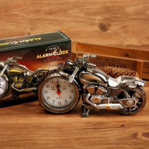 الأزياء الرجعية المنبه دراجة نارية شكل مؤشر الساعات دائم البلاستيك ساعة ل ديكور المنزل الساخن بيع 5 3gs ب r