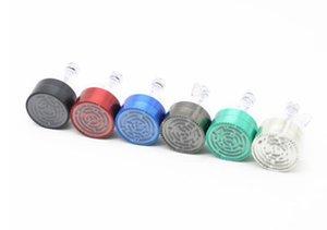 Drei Monochromatische Maze Grinder 63 MM Zink-legierung Einfarbig Trichter Grinder