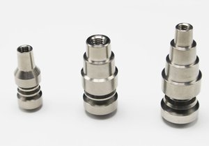 Universal Titanium Nail 10&14& 18mm 6 in 1 4 in 1 Adjustable Male or Female joint Carb Cap nails for Glass Pipe Bong