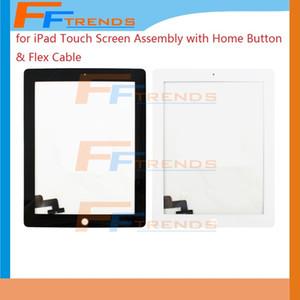 Ersatz Digitizer Touchscreen Home Button Assembly für iPad 3 iPad 4 iPad 2 Hohe Qualität