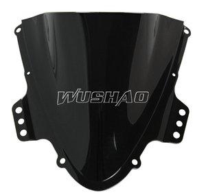 Motorcycle Double Bubble Windshield WindScreen For 2005-2006 Suzuki GSXR1000 GSXR 1000 K5 05 06 Black Color