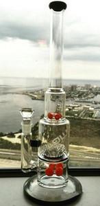 amber JM Akış Cam Bong Dişli ve Serpme yüzdesi Petrol Kuyuları Nargile nargile 18 mm derz