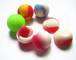 FDA approved food grade non-stick small slick oil balls concentrate wax bho dab silicone jars containers