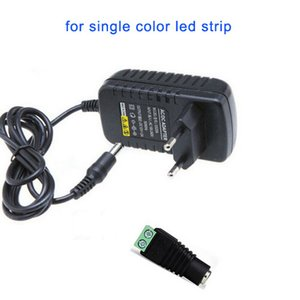Adaptador de Alimentação DC 12V 2A LED Transformador de potência + Feminino Connector for SMD 3528 5050 LED Flex tira Bar Acende Input 110V 220V 230V 240V DHL