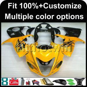 Suzuki GSXR1300 2008-2010 2009 GSXR1300 08 09 10 ABS Plastik kaporta için 23colors + 8Gifts Enjeksiyon kalıplama SARI motosiklet kaporta