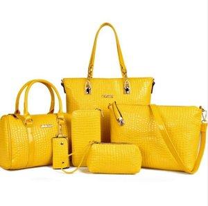 여자를위한 럭셔리 6pcs / 세트 가방 가죽 디자인 고품질 여성 숄더 백 무료 배송 도매 가격
