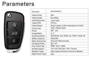 cámara de la llave del coche 1080P visión nocturna con detección de movimiento Full HD Mini llavero PC DVR video de la cámara S820 en la caja al por menor