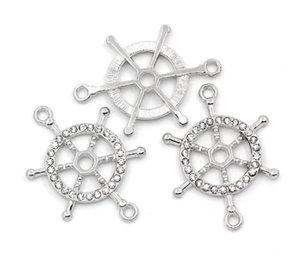 2016 nova infinidade Pulseira Banhado A Prata com strass conector do leme 3.7x2.6 cm conector diy handmade jwelery