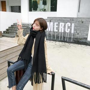 Frauen-fester Troddel-Schal 200 * 50cm großen Schal Warmer Schal Dame Soft-Verpackungs-Schal Pashmina Kaschmir-Schal 10pcs LJJO3813