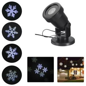 Ao ar livre À Prova D 'Água Moving Laser Snowflake Projetor Luzes LED Paisagem de Natal Xmas Holiday Home Party Decor Lamp