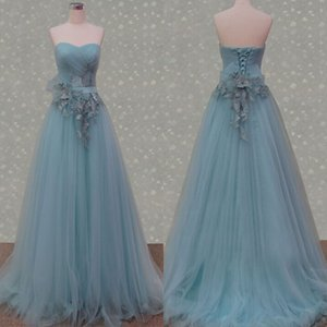 New Real Party Dresses Sweetheart Ruched A line Flowers Featured Floor Length Special Prom Formal Evening Gowns Custom made