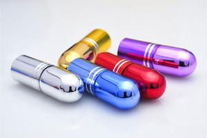 Renkli Küçük 3 ml Cam Şişe Üzerinde Rulo Mini Rulo Uçucu yağ Şişesi 3cc Ince Örnek Cam Flakon Doldurulabilir