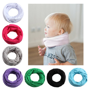 Children Baby Cotton Double Layer Ring Scarves Solid Color Soft Neckerchief Autumn Winter Warm Wrap Scarves for Outdoor