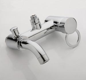 욕실 믹서 욕조 욕조 구리 혼합 제어 밸브 벽 마운트 샤워 꼭지 숨겨진 된 수도꼭지 C3036