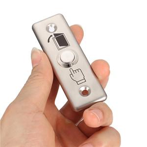 92x28mm Paslanmaz Çelik Kapı Zili Push Button Anahtarı Dokunmatik Panel