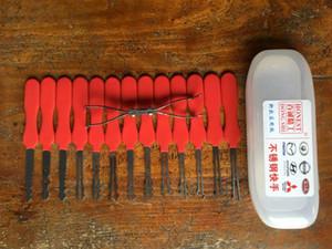 2015 Honest auto pick In acciaio inox 14 pezzi Double Sided Auto Rakes Set di chiavi di blocco auto Lock Pick Lockpicking Auto Fabbro strumenti