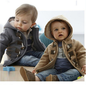 2015 Invierno Moda Botón Botón Niño Espesamiento Outerwear OuterCoat Niño Outerwear Boy Jacket Kid Winter Fleece Hoodie Retail