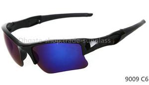 Nuovo arrivo Montatura nera / lente blu Prezzo di fabbrica 9 colori occhiali da sole sportivi ciclismo occhiali da sole moda colore specchio Marca occhiali da sole da uomo