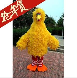 Personnalisation de haute qualité Sesame Street jaune oiseau Costumes de mascotte Fête d'anniversaire à pied Cartoon Apparel Taille adulte