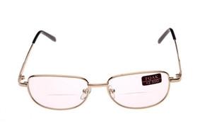 Classico Unisex Montatura In Metallo Occhiali Da Lettura Bifocali Occhiali Reader Occhiali Da Sole Trasparente Diottria + 1.0-4.0 10 Pz / lotto Spedizione Gratuita